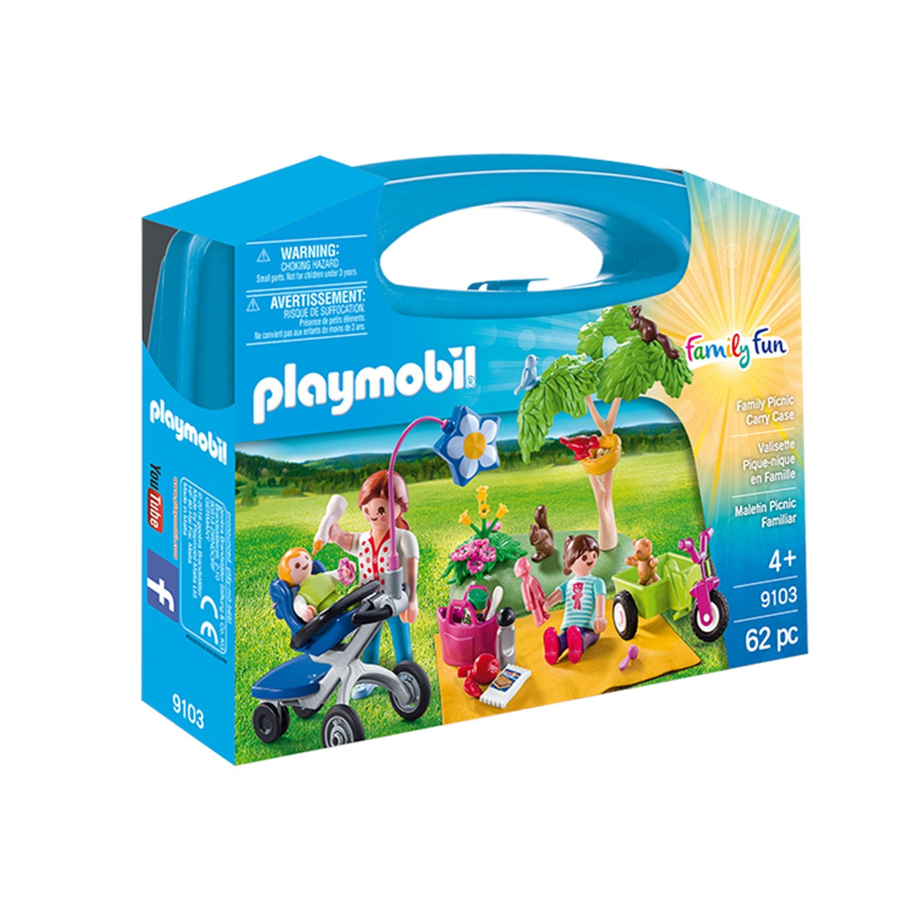 Playmobil Maletín Grande Picnic Familiar