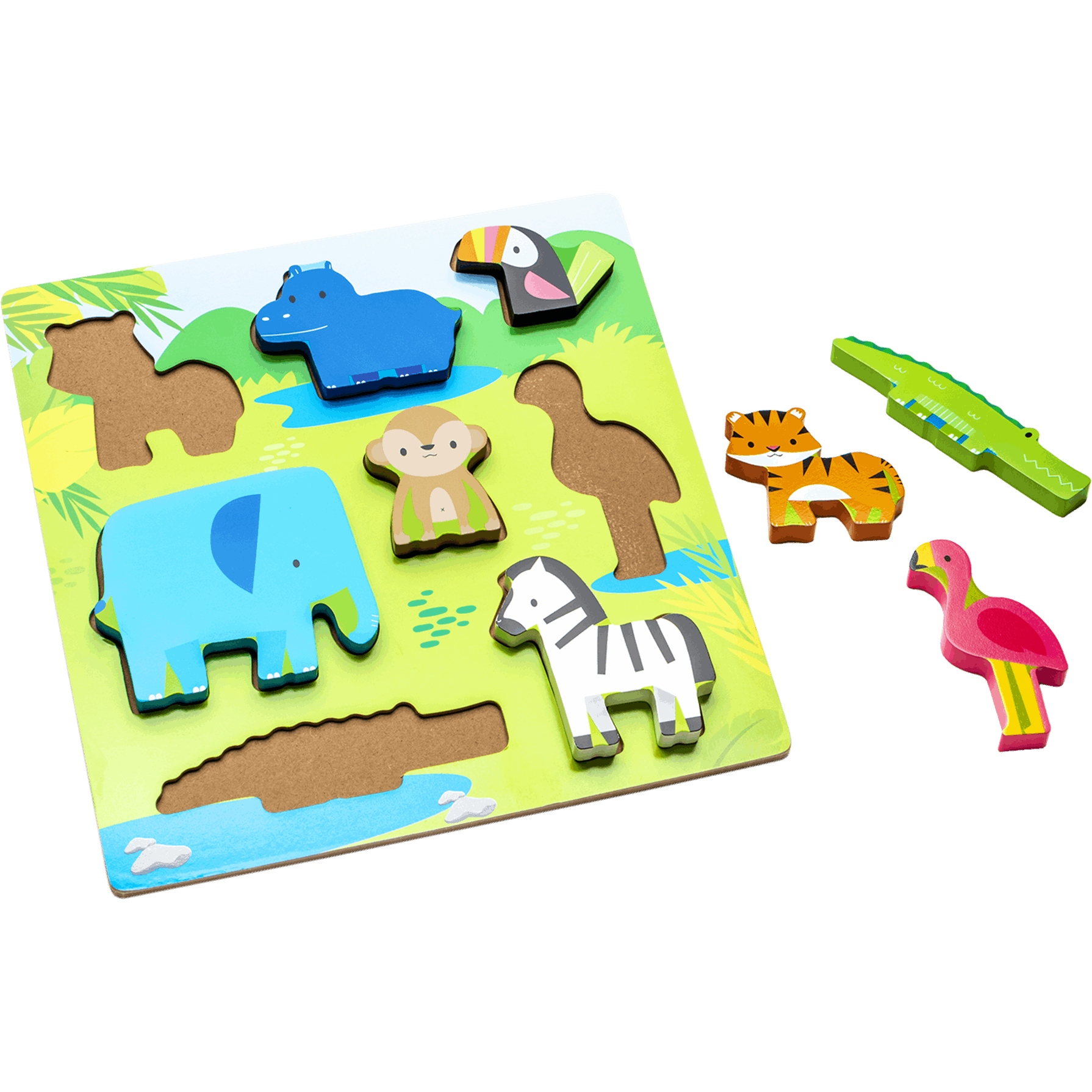 Infant Planet Puzzle Encajes Animalitos