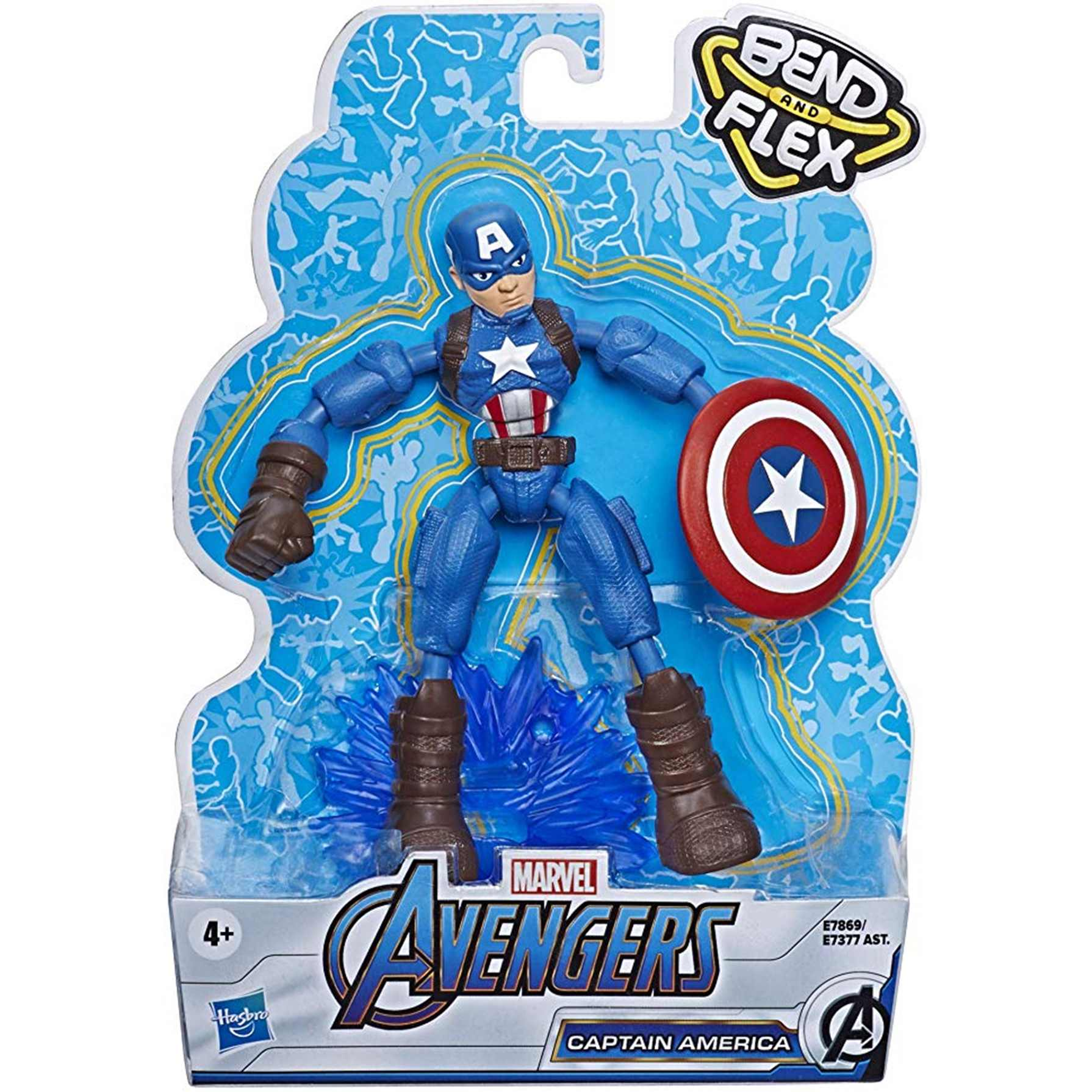 Avengers Blend and Flex Figura Flexible Capitán América