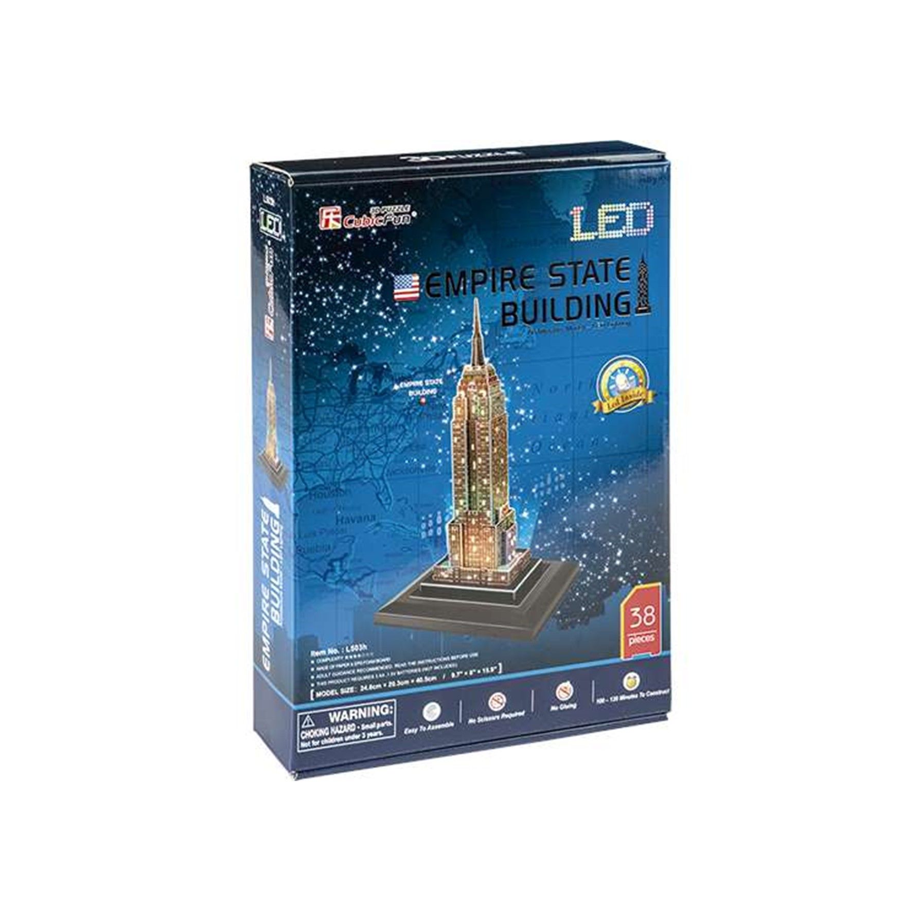 Puzzle 3D Empire State LED