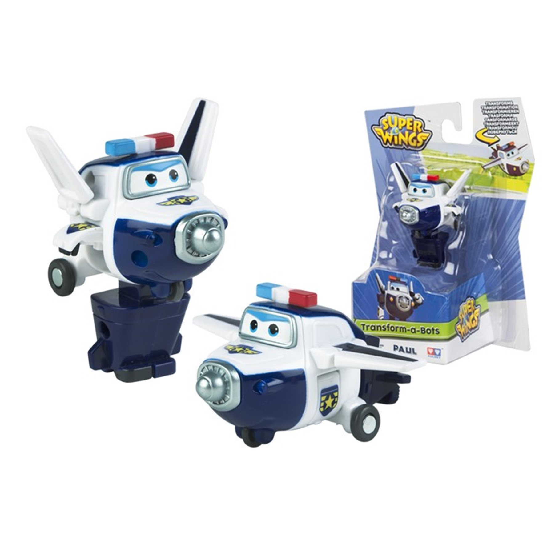 Super Wings Paul Transforma a Robot