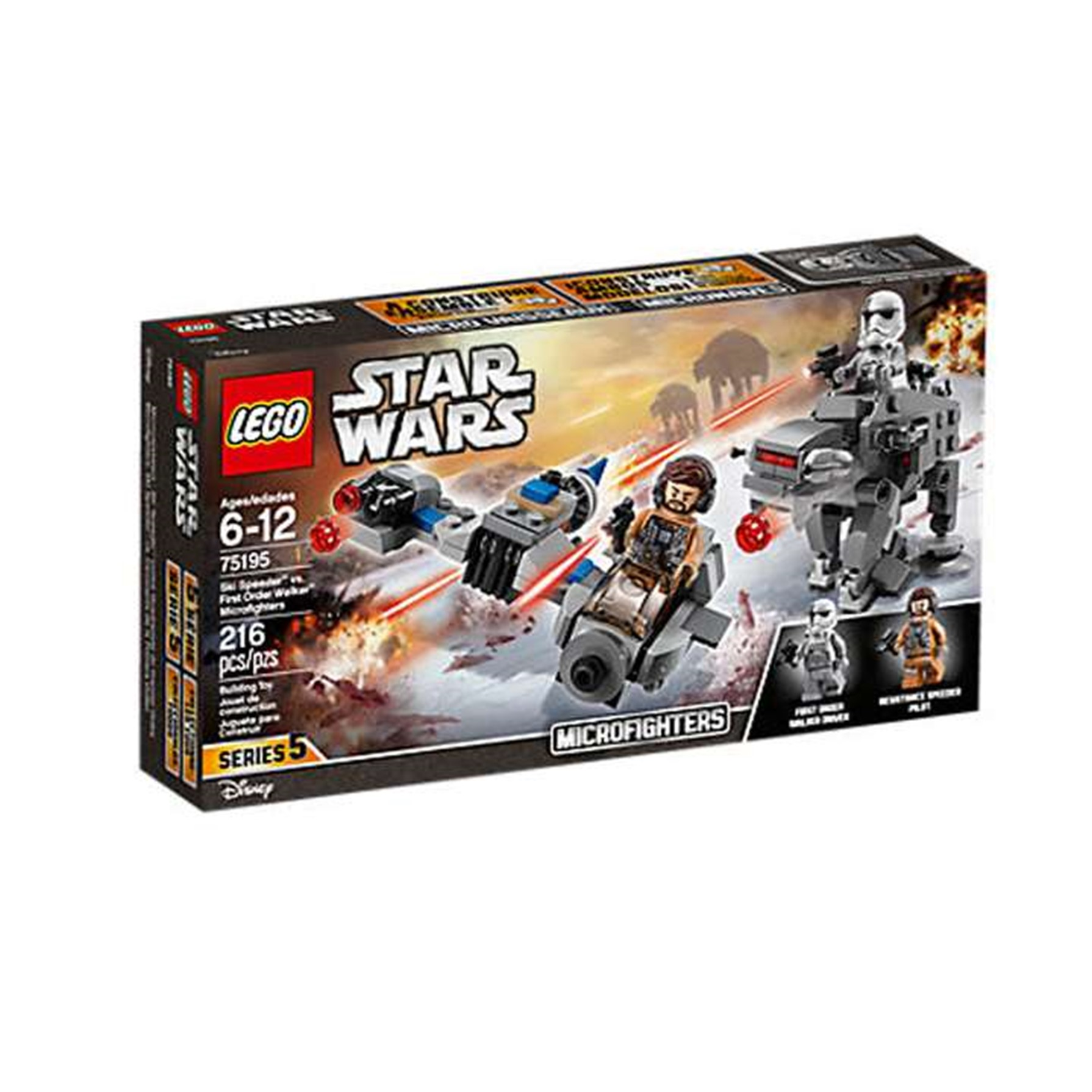 Lego Star Wars Speeder Esquiador vs. Cam