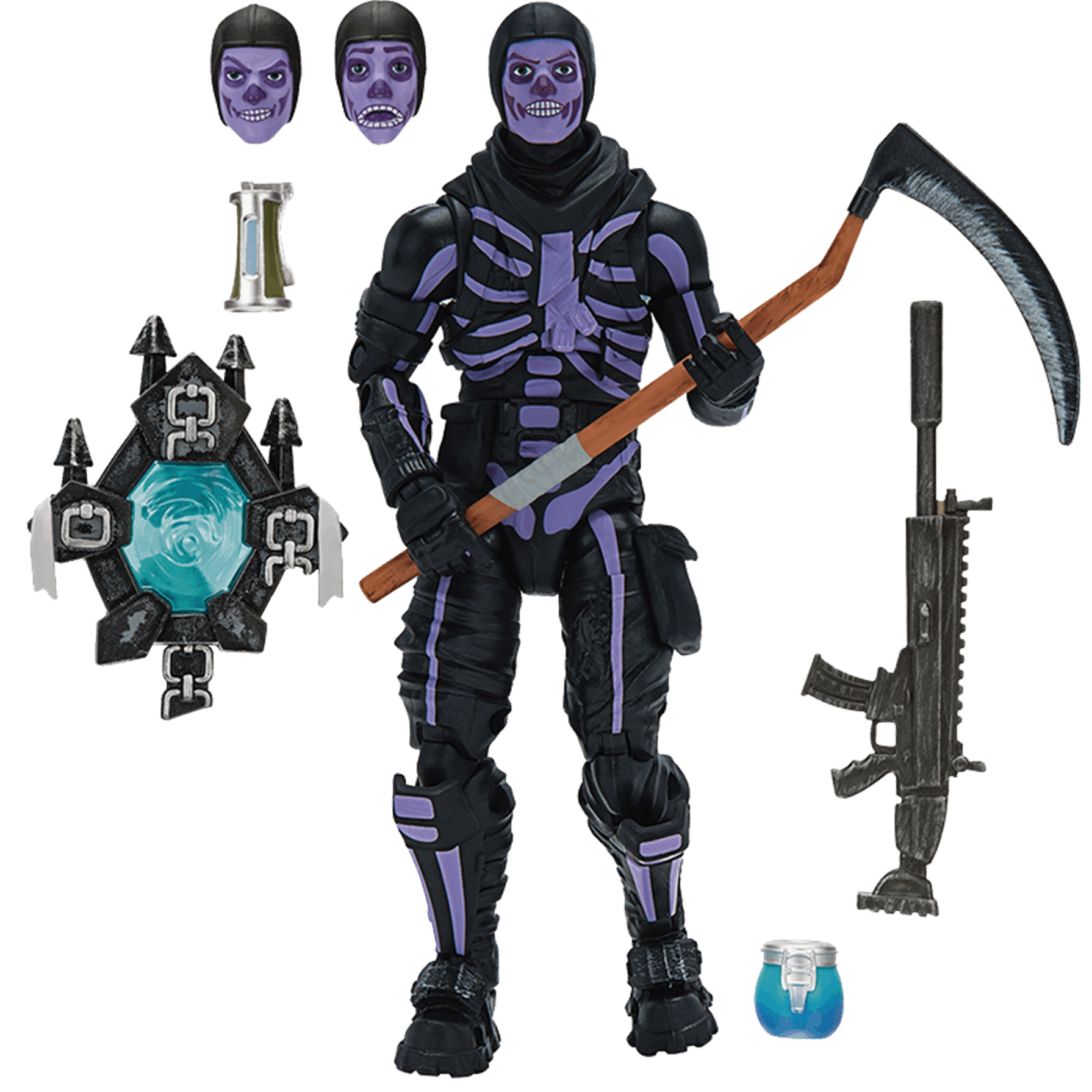 Fortnite Figura Pack Skull Trooper 15 cm con accesorios